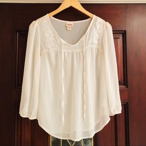 Mossimo Supply Co. Tops - Sheer White Top